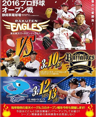 プロ野球オープン戦が静岡で開催!